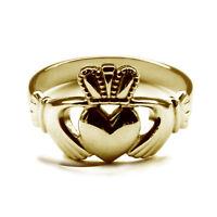 Irish Claddagh Signet Rings NEW 9ct Solid Yellow Gold Bespoke UK Hallmarked Ring