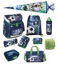 Fußball Schulranzen Set 10tlg. Scooli Campus Sporttasche Schultüte blau Football