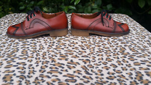 Vintage Brown Leather shoes UK size 6 EU 39
