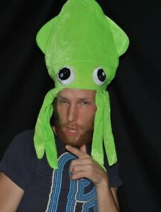 LED Light Up Squid Hat - Party, Tentacle, Rave Rainbow, Lobster Long FLASH