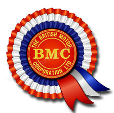 "BRITISH MOTOR CORPORATION DIGITALLY CUT OUT VINYL STICKER. 3.5"" OVERALL SIZE"