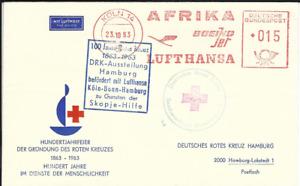 Lufthansa, LH, Sonderflug, FFC, Skopje-Hilfe, DRK, Köln/Bonn-Hamburg, 23.10.63