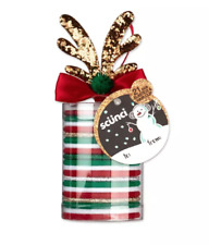 New! Scunci Holiday Elastics with Reindeer Salon Clip - 21pcs-Great Gift!