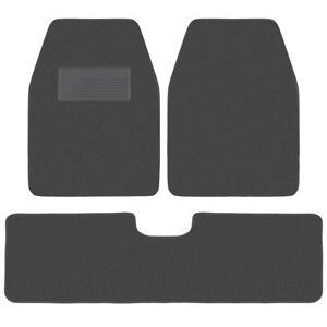 carXS 3pc Charcoal Heavy Duty Carpet SUV Van Pickup Car Floor Mats Front Rear