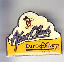 RARE PINS PIN'S .. DISNEY PARIS OPENING 1992 AERO CLUB AVION MICKEY JAUNE ~16