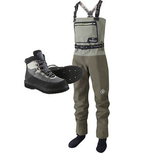 Wychwood New SDS Gorge Breathable Chest Fly Fishing Waders & Boots – All Sizes