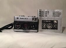 Rollei 35 S Camera Sonnar 30.5 MM Chrome Version Made in Singapore W/ Manual