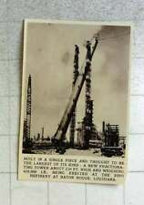 1956 Huge Fractioning Tower 210 Feet High Baton Rouge Louisiana