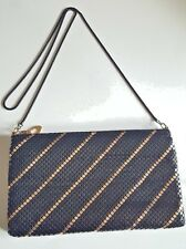 Black Gold Mesh Evening Bag Purse Clutch Envelope Handbag USA Seller CB1