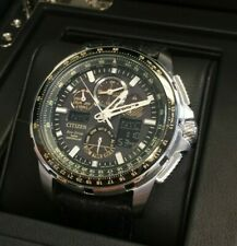 CITIZEN ECO-DRIVE MEN'S STAINLESS SKYHAWK LIMITED EDITION WATCH W/ BOX & PAPERS