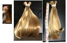 Human Hair Cut 10-11 inch from Young Child Girl, Platinum blonde with Ash Blonde