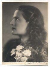 Fotografia autografo IVA PACETTI Cantante soprano anni 30 opera lirica 16x22