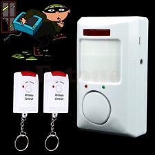 Shed Home Garage Caravan Wireless Pir Motion Sensor Alarm + 2 Remote Controls