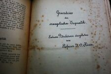 Theologie ca.1905 - Sammlung Druckbogen Dogmatik Prof. Kirn Römerbief Taufe
