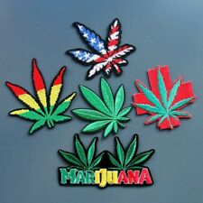 5 pcs/Marijuana/Bob Marley/Sew on patch/Embroidered Patch/Applique/American