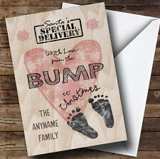 With Love From The Bump Pregnant Personalised Christmas Card