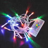 10 LEDs Bunt Weihnachten Party Hochzeit Batterie LED Lichterkette 1M Kette