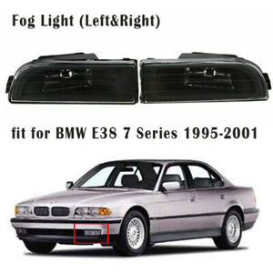 2x For BMW 7 Series E38 740i 750iL 1995-2001 Righ & Left Front Fog Light Lamps