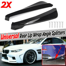 Black Rear Body Bumper Lip Kits Spats Skirt Spoiler Aprons For BMW F80 M3   *//