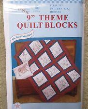 "Jack Dempsey embroidery / cross stitch 9"" Theme Quilt Blocks HORSES"