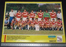 CLIPPING POSTER FOOTBALL 1987-1988 BREST ARMORIQUE FRANCIS-LE-BLE BREIZH 29