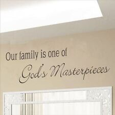 Huhome PVC Wall Stickers Wallpaper English Proverbs Family God & #; s living roo