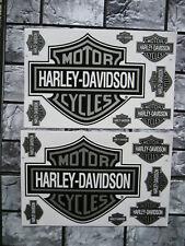 2 Aufkleber Bogen Motorcycles Harley-Davidson Racing Motorradsport Biker Race GT