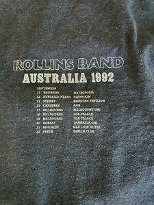 Authentic Vintage Rollins Band Long Sleeve Australian Tour Tshirt 1992 XL