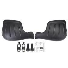1 Pair Pp Motorcycle Wind Deflector Handguard Hand Guard Protector Shield Black