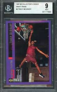 Tracy Mcgrady Rookie Card 1997-98 Collector'S Choice Draft Trade #9 BGS 9