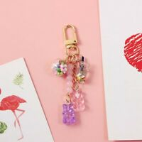 Acrylic Candy Women Fashion Accessories Bear Key Chain Keyholder Key Ring