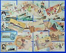 More details for set of 28 ocean liner postcards by trans atlantic research le9