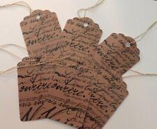 30 Paris Script Strung Price Tags~Retail Boutique Store~Junk Journals~Gift Tags