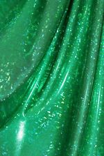 Dance Costume Spandex Lycra Kelly Green Shattered Glass 50cm - 150cm wide