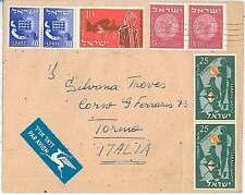 Storia POSTALE Israele: Airmail copertura all' Italia 1955