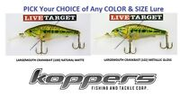 Koppers Live Target Bass Largemouth Crankbait Jerkbait Pick Any Matte Gloss Lure