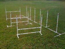 Dog Agility Equipment Combo 3 Jump Set and 6 Adjustable Weave Poles Free Ship!