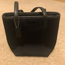 Coach Black Neoprene and Leather Tote Bag Purse Satchel 6201