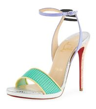 NIB Christian Louboutin Discoport 120mm Red Sole Sandals Heels 7.5 37.5 New $795