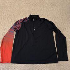 Spyder Half-Zip Base Layer Pullover Shirt Hiking Active Outdoors Mens Medium
