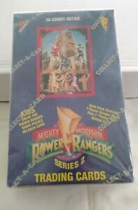 Power Rangers Series 2 -  FACTORY SEALED Box -  36 Packs 1994 Trading Cards