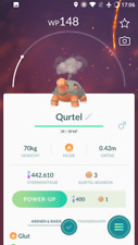 Pokémon Go Account mit regionalem Pokémon Qurtel Torkoal