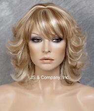 Flip Wavy Wig wet look sassy zigzag center part Blonde Mix Hair WBBA 27-613 NWT