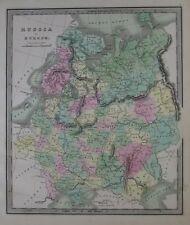 Original 1842 Greenleaf Map RUSSIA IN EUROPE Poland Ukraine Finland Moscow Kiev