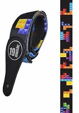 Tetris multicolore graphique Sangle de guitare (1585) Rétro Jeu d'ordinateur Merchandise