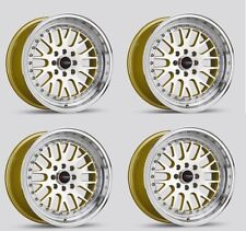 Drag Wheels Dr-58 16x8.25 4x100 4x114 +25 Low offset Gold JDM Step lip Rims