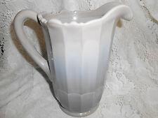Gray marble Milk Slag Glass water lemonade Pitcher swirl grey tea opaque serving