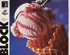 close up of ice cream & cone - vibrant color poster - photographer Stuart Block