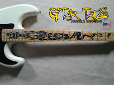 Dragon Flames Sticker Inlay - Black for Right handed guitar 22-24 Fret