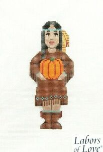 Labors of Love Indian Girl Handpainted Needlepoint Canvas LL 475E